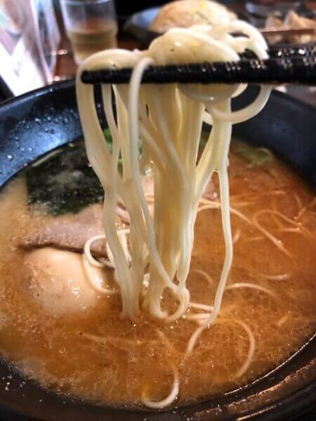 「天風」こくあじらーめんの麺の画像