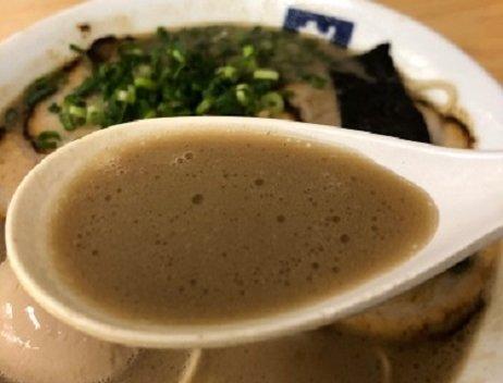 魁龍ラーメンのスープの画像
