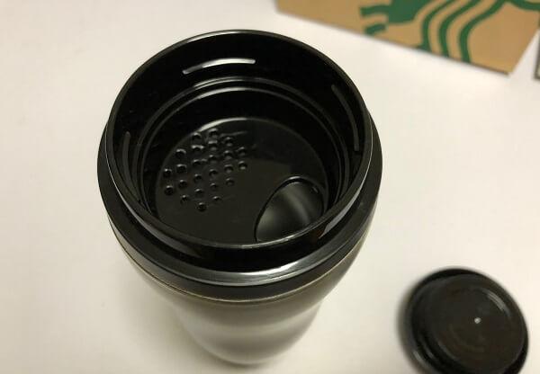 スタバ ステンレスボトルローフィニッシュ355ml 飲み口の画像