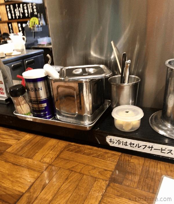 「秀ちゃんラーメン」卓上調味料の画像