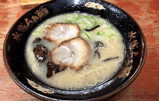 「水城らあ麺」の豚骨ラーメンの画像