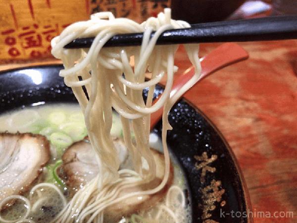 「水城らあ麺」中細ストレート麺の画像