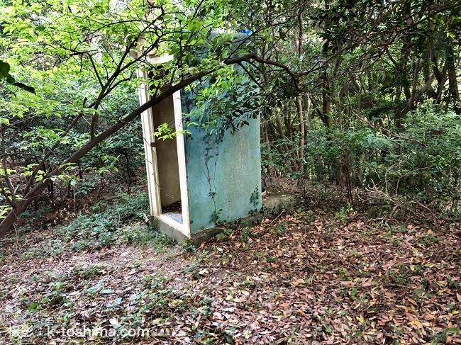 龍王山登山道 廃トイレ