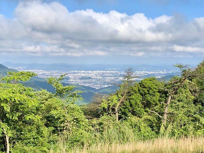 龍王山山頂から眺めた福岡市の眺め