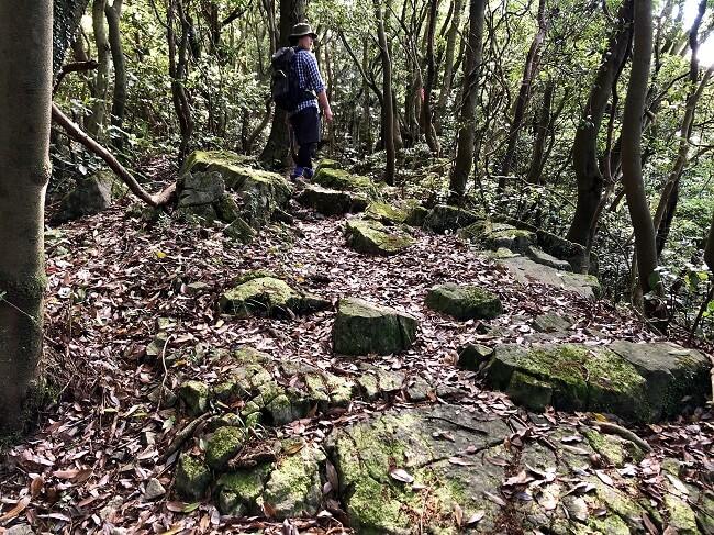 龍王神社までの登山道