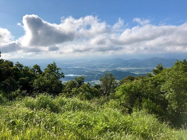 龍王山山頂から眺めた筑豊地区の風景