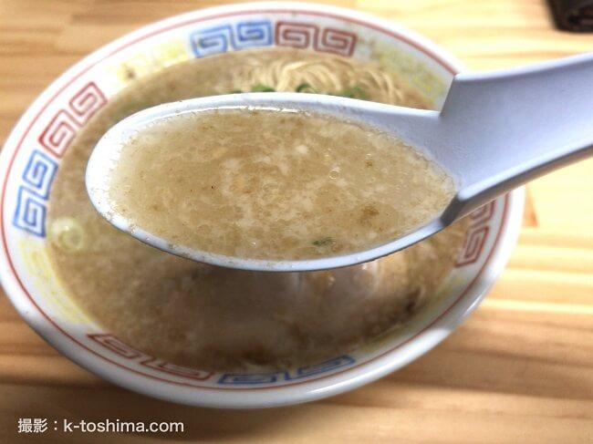 博多だるまラーメンの豚骨スープ