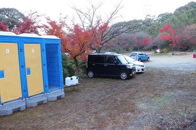 宝満山の有料駐車場