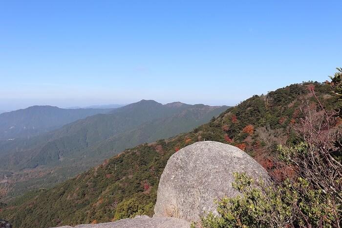 宝満山山頂からの眺め