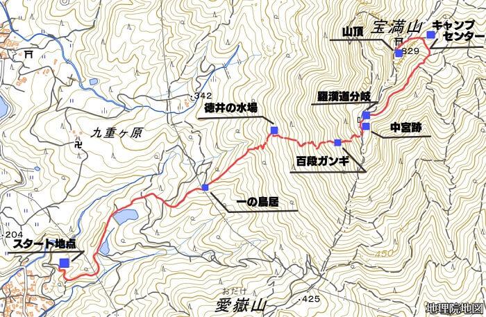 宝満山の地図