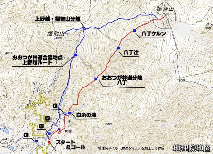 福智山 白糸の滝登山ルート