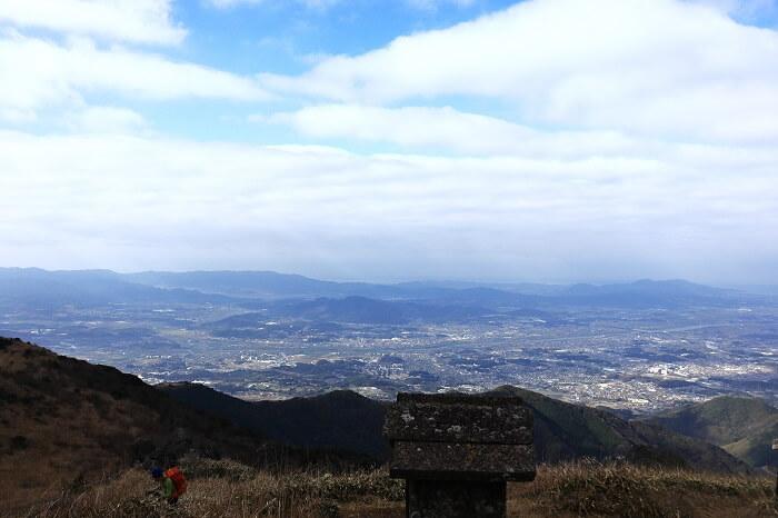 福智山からみた筑豊側の眺め