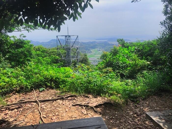 可也山 途中の展望所