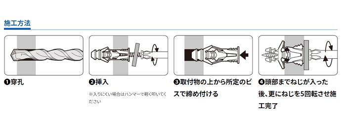 公式のトリプルグリップ施工方法
